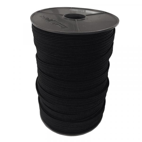 Nastro piatto in gomma 16mm | 3mm | 3mm |100m materiale in rotolo nero Multiflex PP
