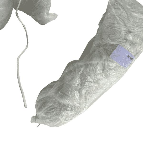 Maskengummi Rund Nylon-Elasthan 3mm Weiß für Atemschutzmasken 1336 Meter