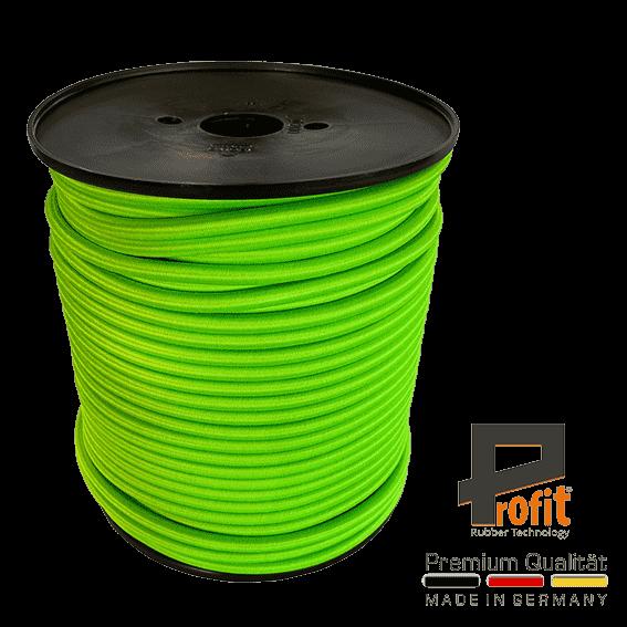 Espansore a fune - corda di gomma neon verde 8mm su rotolo da 100 metri